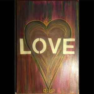 Multi Color LOVE Painting